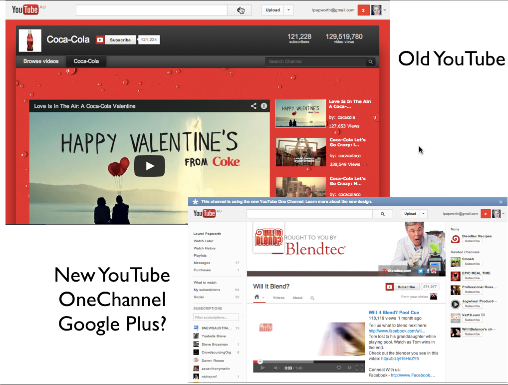 Youtube dead, Google Plus wins.