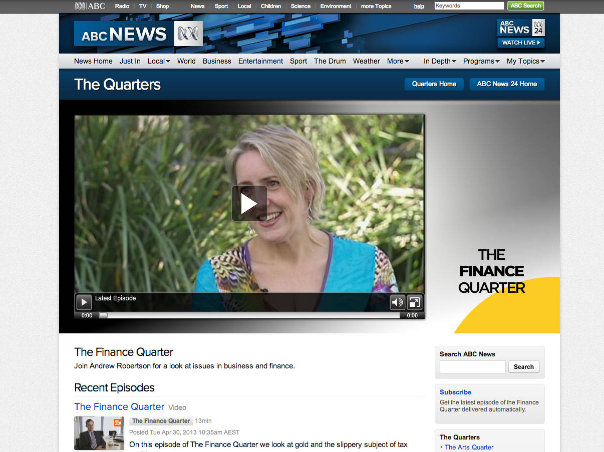 ABC Finance Quarter social media and ceos laurel papworth