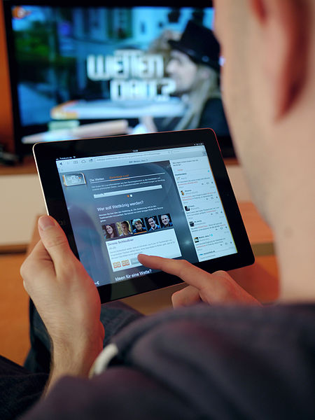 Do you advertise on the TV or the iPad?
