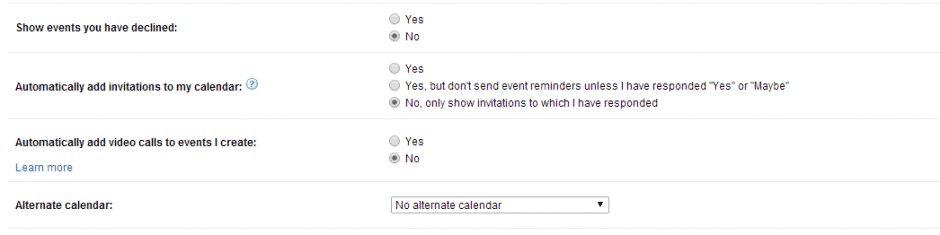 Calendar- Event Spam Google Hangouts 5